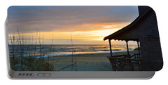 Beach Cottage Sunrise  Portable Battery Charger