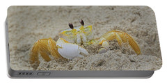 Beach Crab In Sand Portable Battery Charger