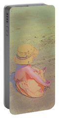 Beach Day Portable Battery Charger by Aliceann Carlton