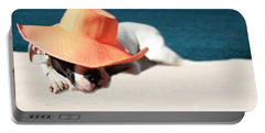 Portable Battery Charger featuring the photograph Beach Day For Bubba by Shelley Neff