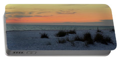 Portable Battery Charger featuring the photograph Beach Evening Tones by Deborah  Crew-Johnson