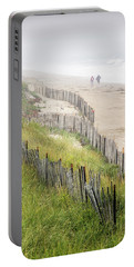 Beach Fences In A Storm Portable Battery Charger