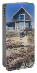 Portable Battery Charger featuring the photograph Beach Front Cottage by Edward Fielding