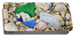 Portable Battery Charger featuring the photograph Beach Glass by Karen Silvestri
