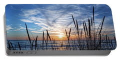 Beach Grass Portable Battery Charger by Delphimages Photo Creations