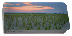 Portable Battery Charger featuring the photograph Beach Grass Farm by  Newwwman