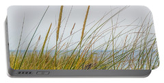 Portable Battery Charger featuring the photograph Beach Grass by Kendall McKernon