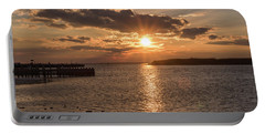 Beach Haven Nj Sunset January 2017 Portable Battery Charger