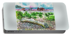 Beach Horseback Riding Portable Battery Charger