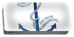 Beach House Nautical Ship Christ Is My Anchor Portable Battery Charger