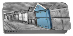 Beach Hut In Isolation Portable Battery Charger