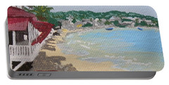 Beach In Grand Case Portable Battery Charger by Margaret Brooks