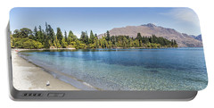 Beach In Queenstown, New Zealand Portable Battery Charger
