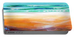 Portable Battery Charger featuring the painting Beach Joy by Winsome Gunning