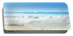 Portable Battery Charger featuring the photograph Beach Love Summer Sanctuary by Sharon Mau