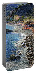 Beach Monterosso Italy Dsc02467 Portable Battery Charger by Greg Kluempers