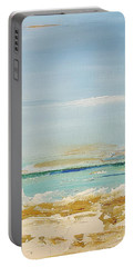 Portable Battery Charger featuring the painting Beach Morning by Diana Bursztein