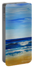Beach Ocean Sky Portable Battery Charger