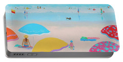 Beach Painting - Ah Summer Days Portable Battery Charger