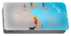 Beach Painting - Beach Day - By Jan Matson Portable Battery Charger