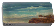 Beach Painting Beach Rocks  Portable Battery Charger