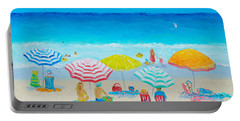 Beach Painting - Catching The Breeze Portable Battery Charger