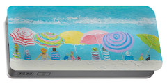 Beach Painting - Color Of Summer Portable Battery Charger