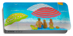 Beach Painting - Endless Summer Days Portable Battery Charger