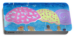 Beach Painting - Lazy Summer Days Portable Battery Charger