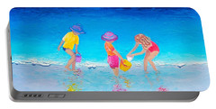 Beach Painting - Water Play  Portable Battery Charger