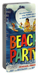 Beach Party Lobby Promo With Frankie Avalon Autograph  1963 Portable Battery Charger by Daniel Hagerman