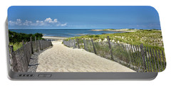 Beach Path At Cape Henlopen State Park - The Point - Delaware Portable Battery Charger