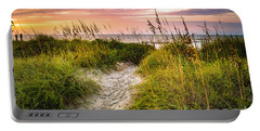 Beach Path Sunrise Portable Battery Charger