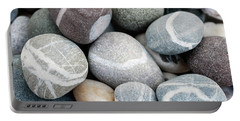 Beach Pebbles Close Up Portable Battery Charger