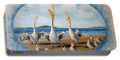 Flying Lamb Productions            Pelicans   Beach Platoon Portable Battery Charger