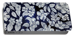 Portable Battery Charger featuring the drawing Beach Rose Pattern by Monique Faella