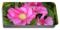 Beach Roses Portable Battery Charger