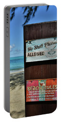 Beach Rules Portable Battery Charger