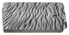 Beach Sand Mantle In Monochrome Portable Battery Charger