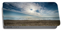 Beach Sand With Clouds - Spiagggia Di Sabbia Con Nuvole Portable Battery Charger