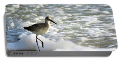 Beach Sandpiper Portable Battery Charger by Kathy Long