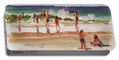 Beach Scene, Afternoon Portable Battery Charger