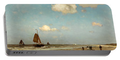 Beach Scene Portable Battery Charger by Jan Hendrik Weissenbruch