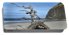 Portable Battery Charger featuring the photograph Beach Sculpture by Peggy Hughes
