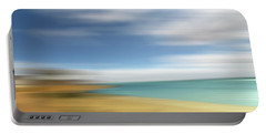 Beach Seascape Abstract Portable Battery Charger by Gill Billington