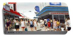 Beach/shore I Boardwalk Ocean City Md - Original Fine Art Painting Portable Battery Charger