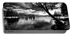 Portable Battery Charger featuring the photograph Beach Silhouette by David Patterson