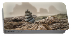 Beach Stack Portable Battery Charger by Kristopher Schoenleber