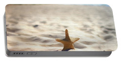 Beach Starfish Wood Texture Portable Battery Charger by Dan Sproul
