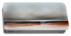 Portable Battery Charger featuring the mixed media Beach Storm by Anthony Fishburne